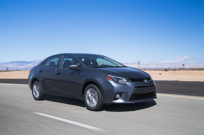 2014-Toyota-Corolla-Eco-front-three-quarter-in-motion