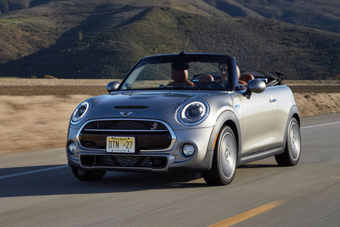 2016-Mini-Convertible-Cooper-S-front-three-quarter-in-motion-11