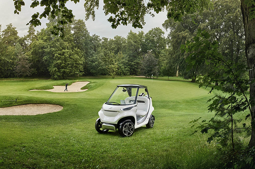 The Mercedes-Benz Style Edition Garia Golf Car
