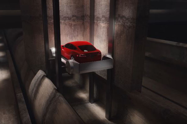 Tesla-Model-S-The-Boring-Company-tunnel